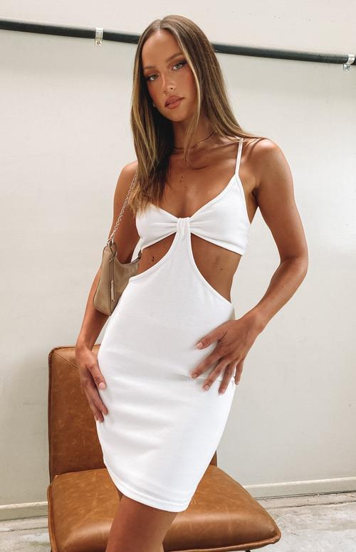 Sexy white cutout dress