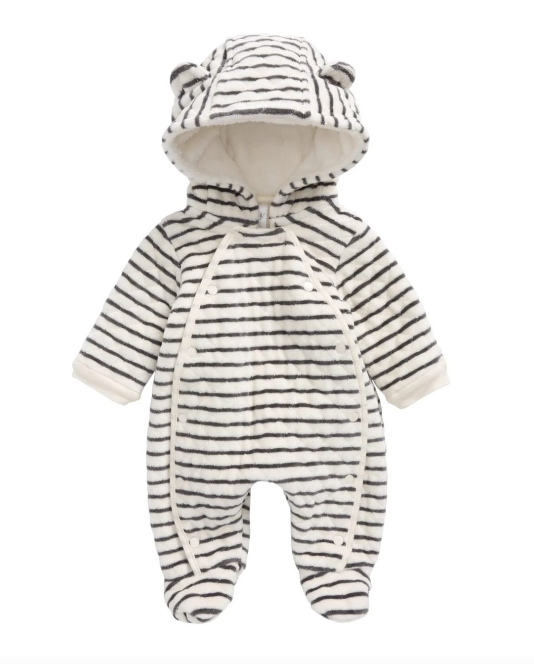 Striped onesie for baby boys