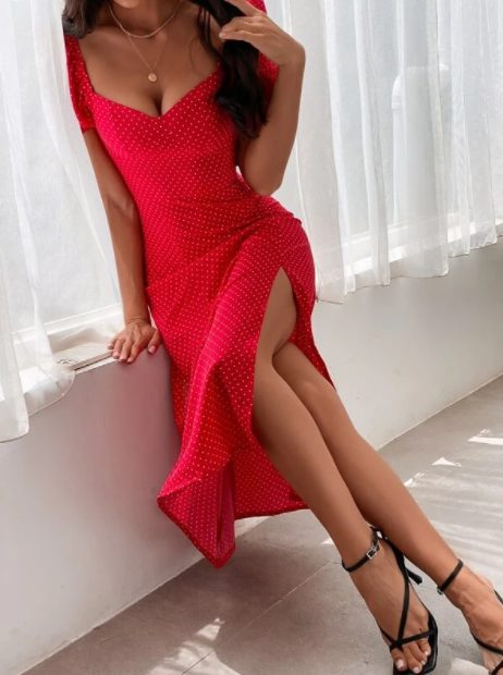 The Best Red Dresses For Date Night: Shein