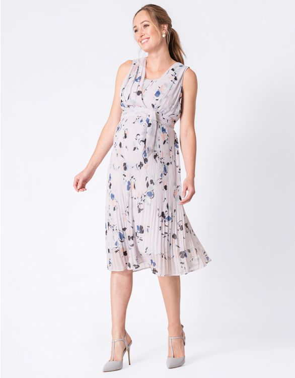Flowy floral maternity dress for special occasions