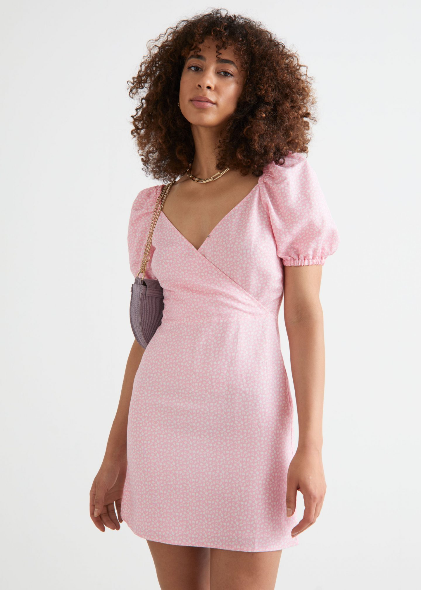 Light pink babydoll dress from & Other Stories