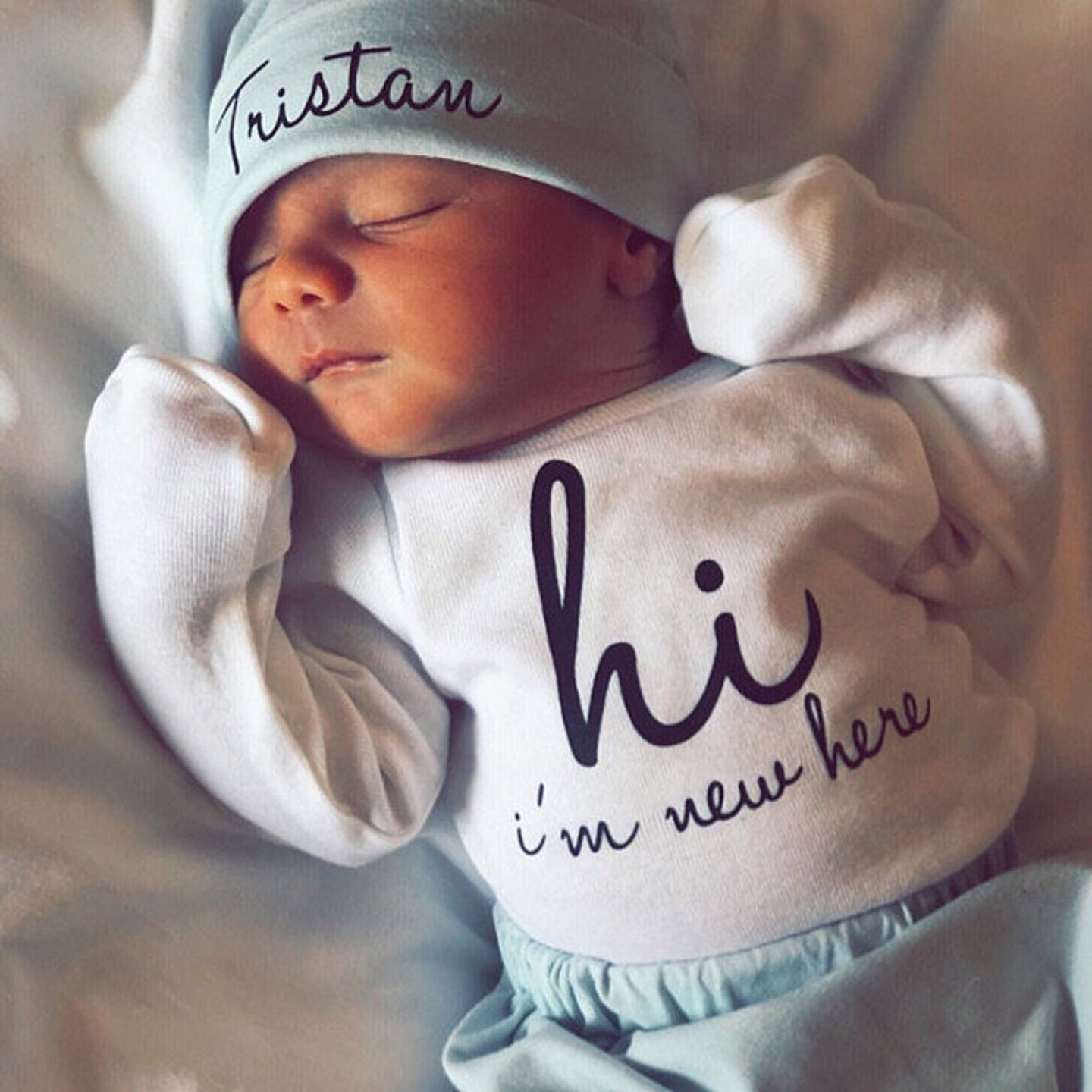 Light blue baby boy coming home outfit