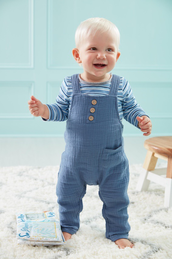 Cute blue overalls for baby boys