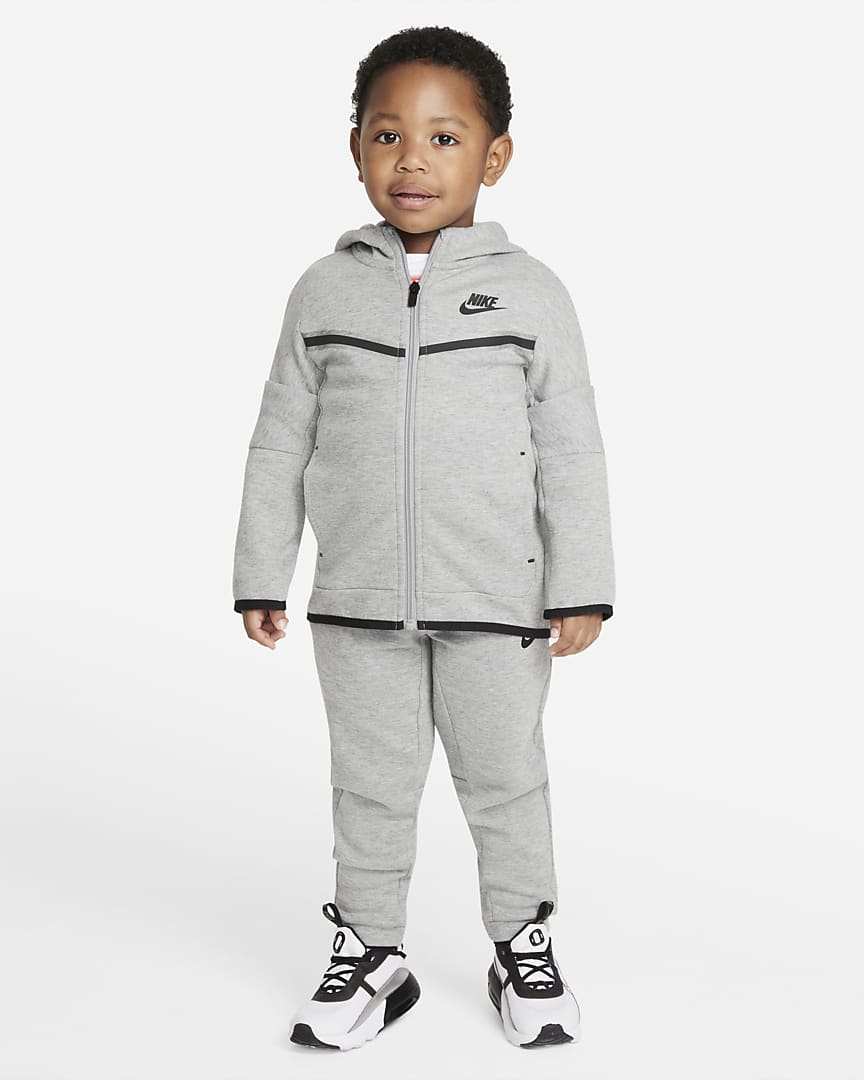 Cute grey tracksuit outfit for baby boys