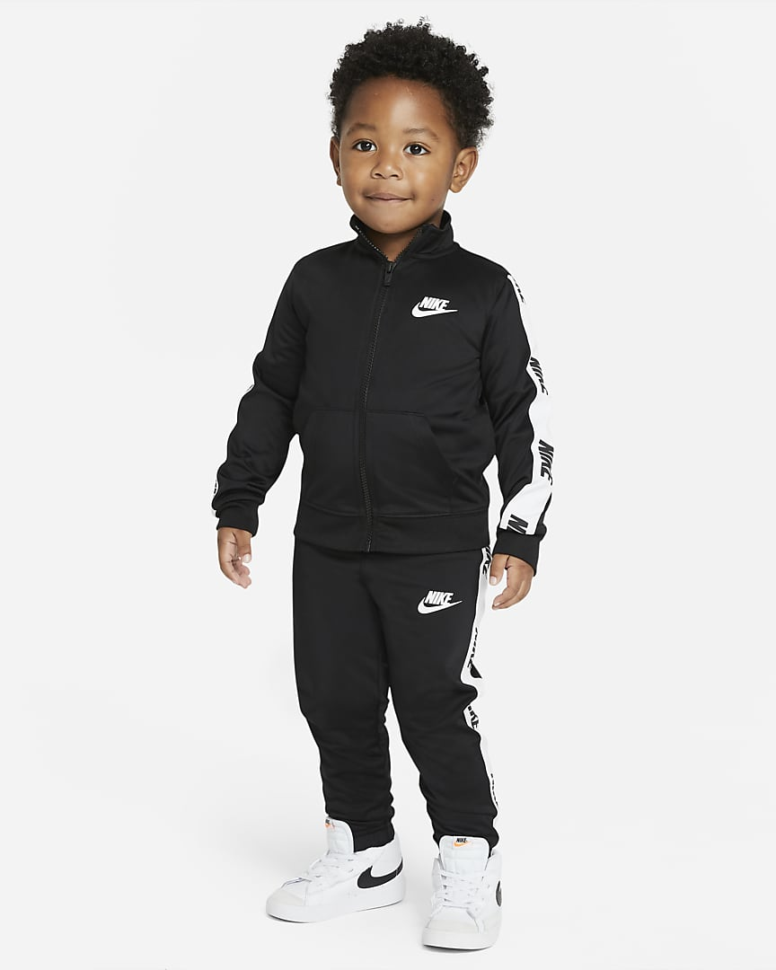 Black Nike tracksuit outfit for baby boys