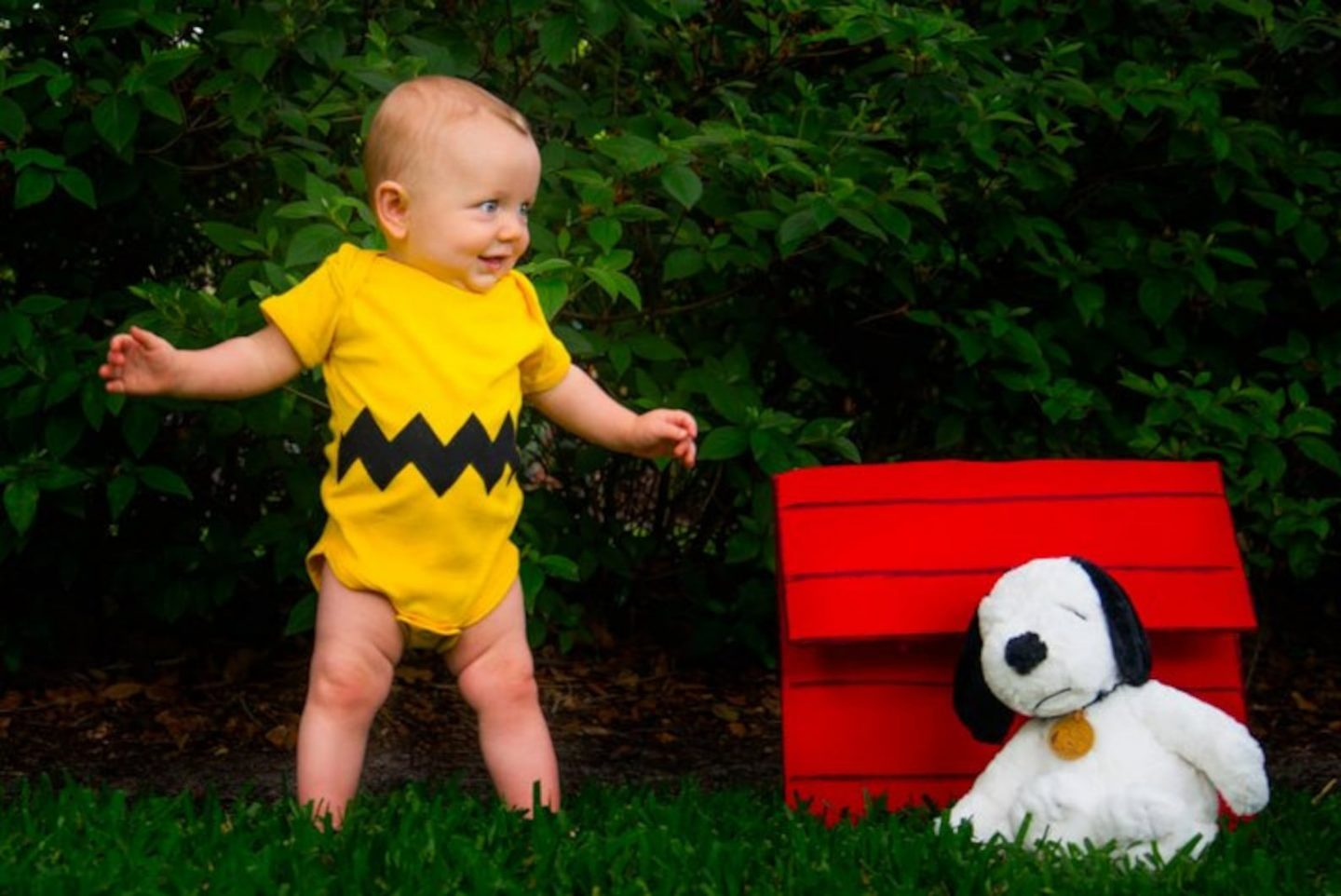 Charlie Brown and Snoopy Halloween costume for infants and toddlers
