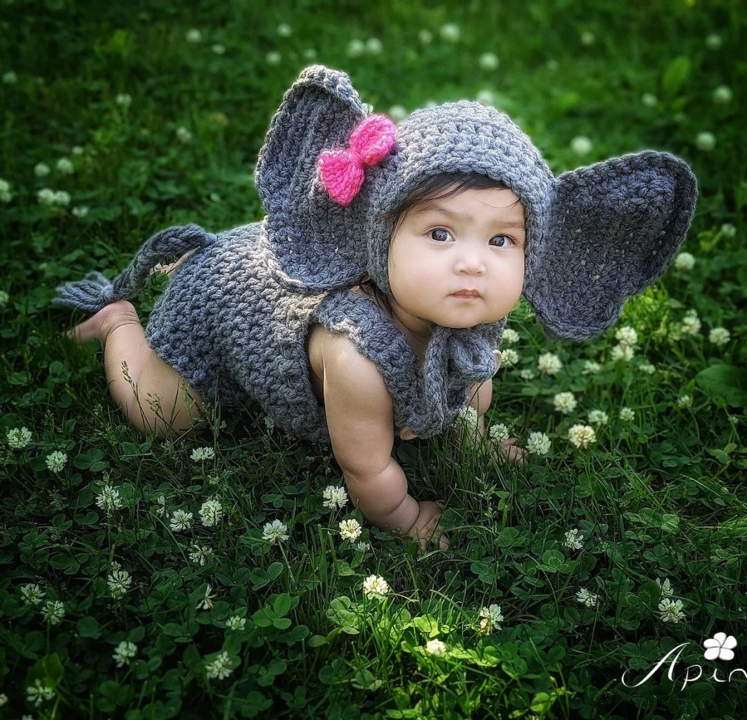 Baby elephant Halloween costume for toddlers
