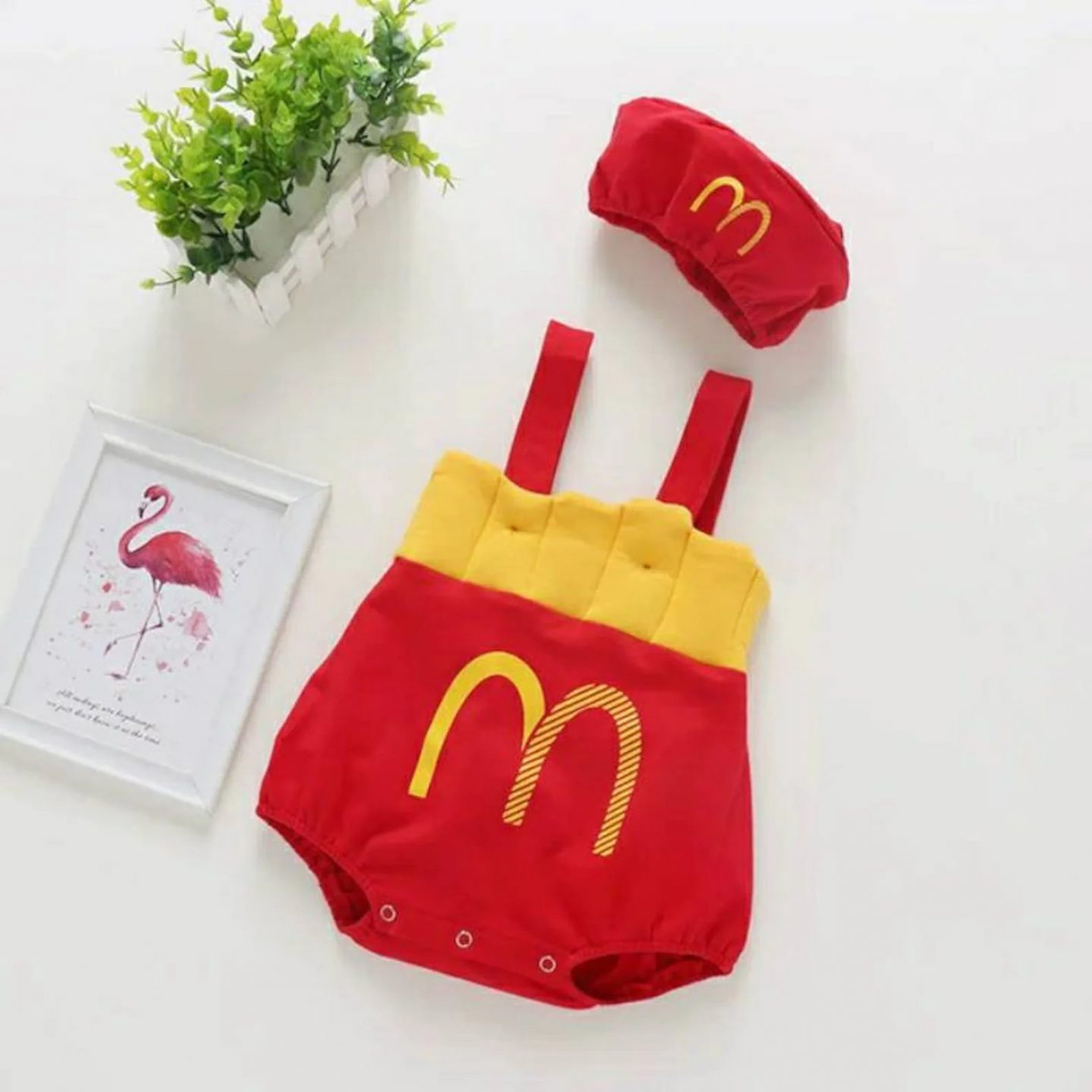 Cute McDonald's baby costume for photos