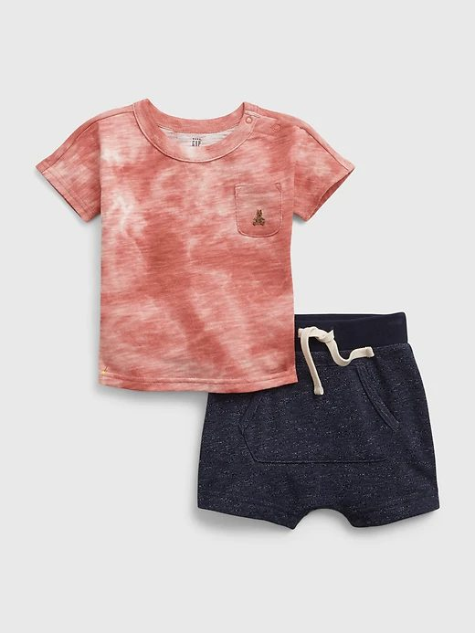Tie dye t-shirt with shorts for toddlers