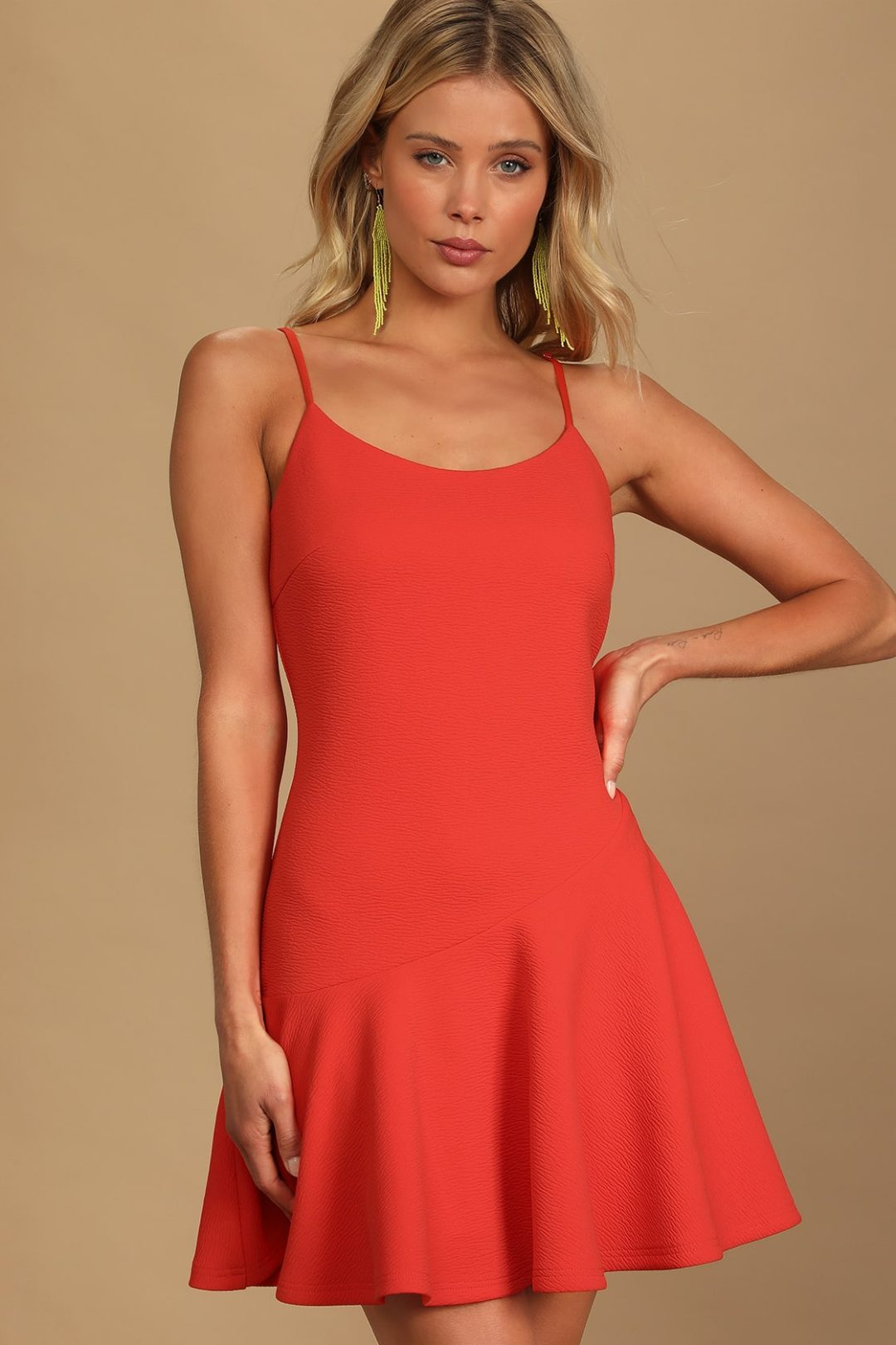 Bright A-line mini dress