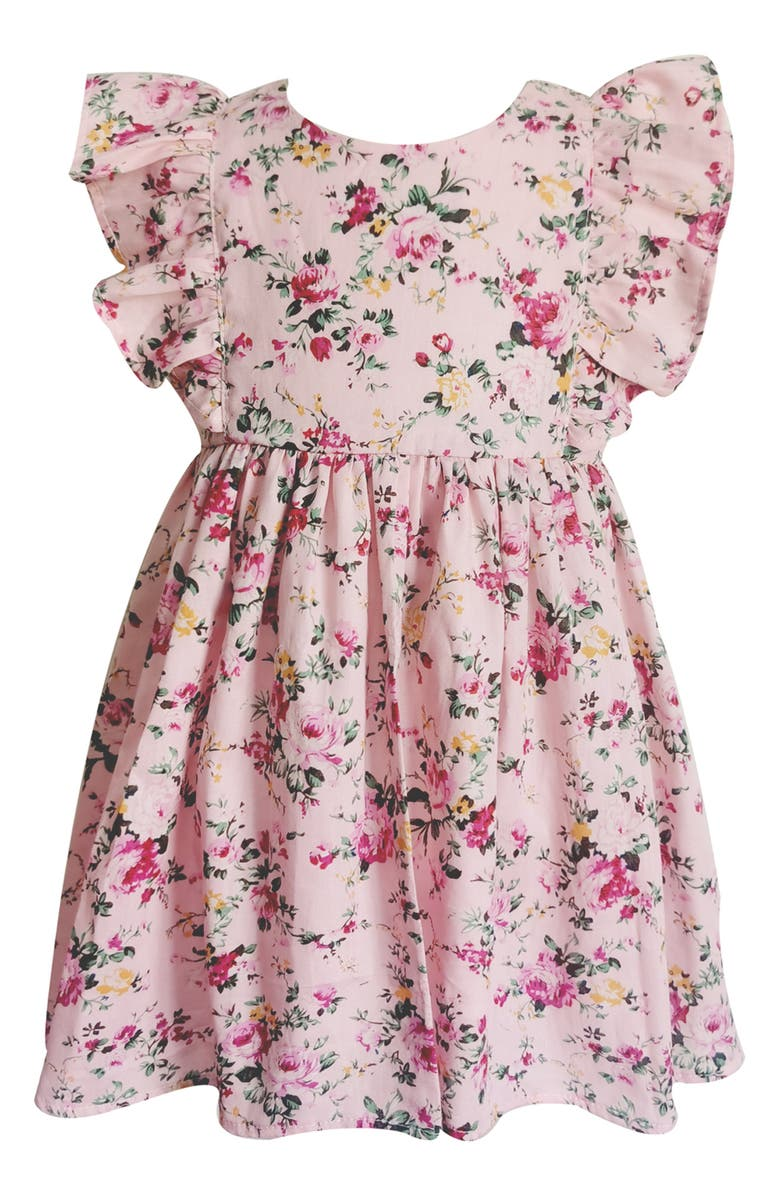 Florals and ruffles dress for baby girls