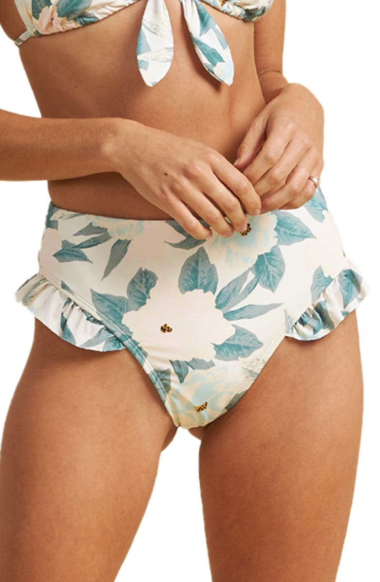 Floral ruffled bottoms for hip dips
