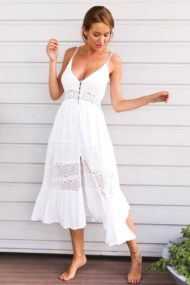 Cottagecore lace midi dress