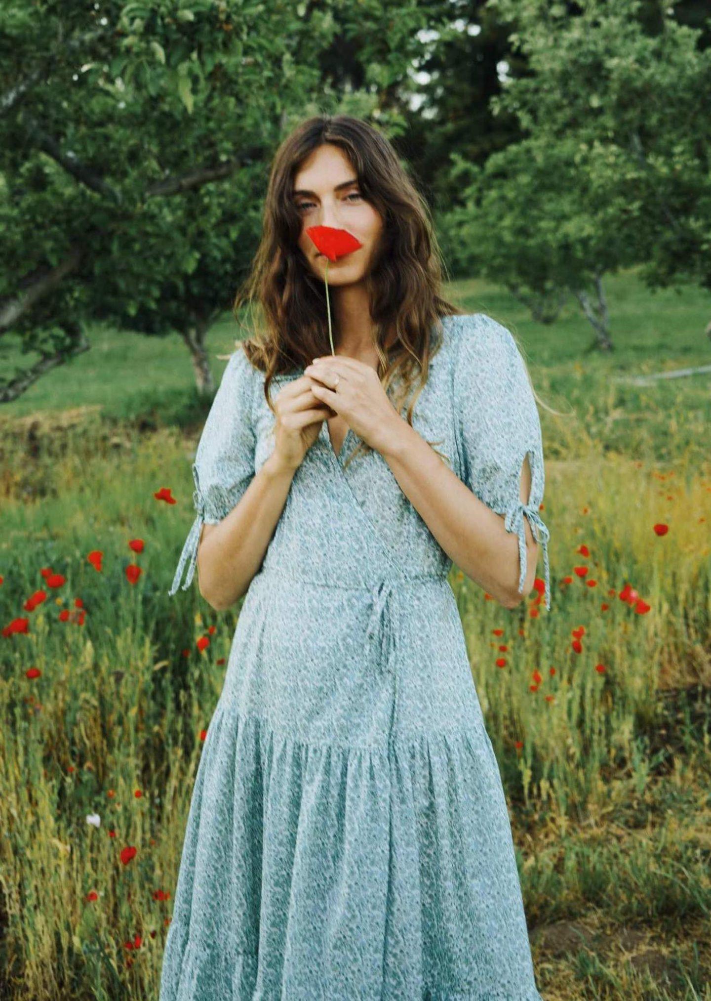 Blue meadow cottagecore dress
