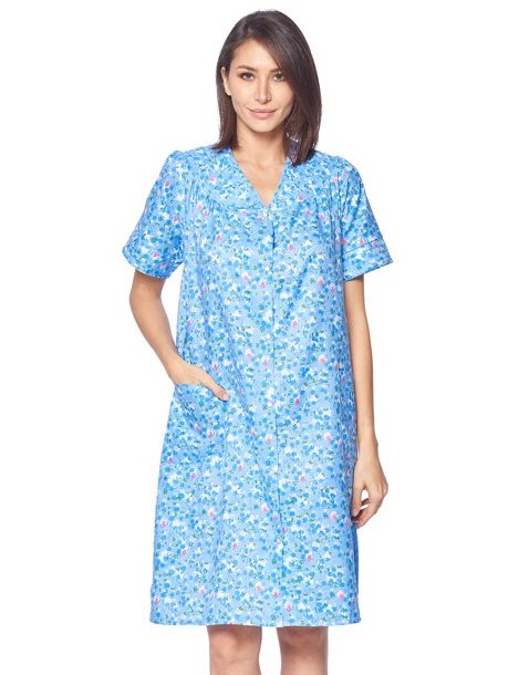 Blue floral house robe