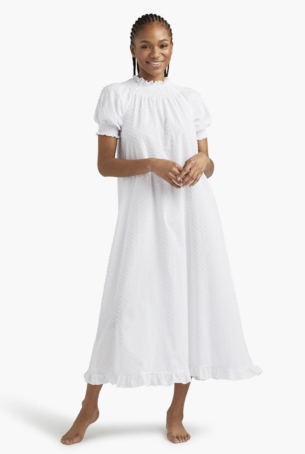 White nap dress from Hill House Home