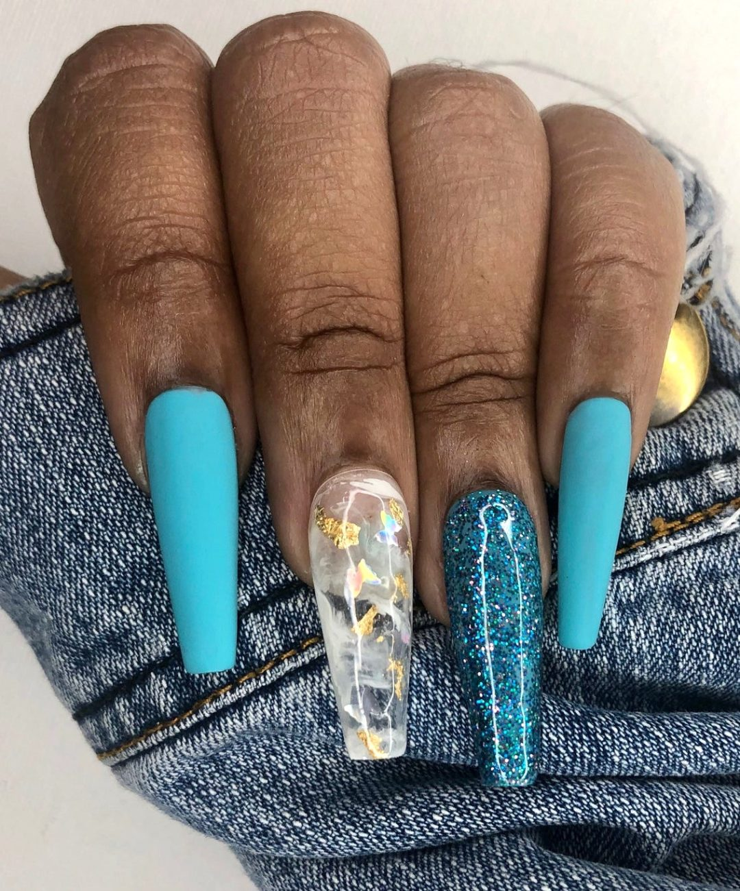 40+ Stunning Blue Nails You Can Rock This Summer