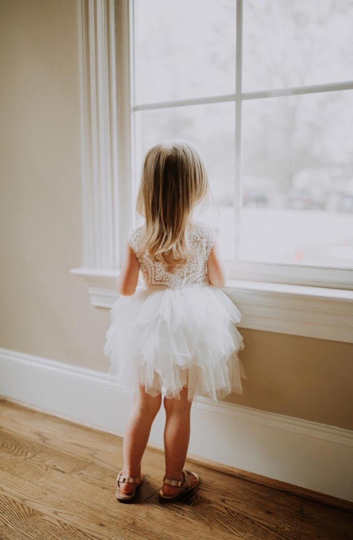 Ballerine tulle dress for baby girls