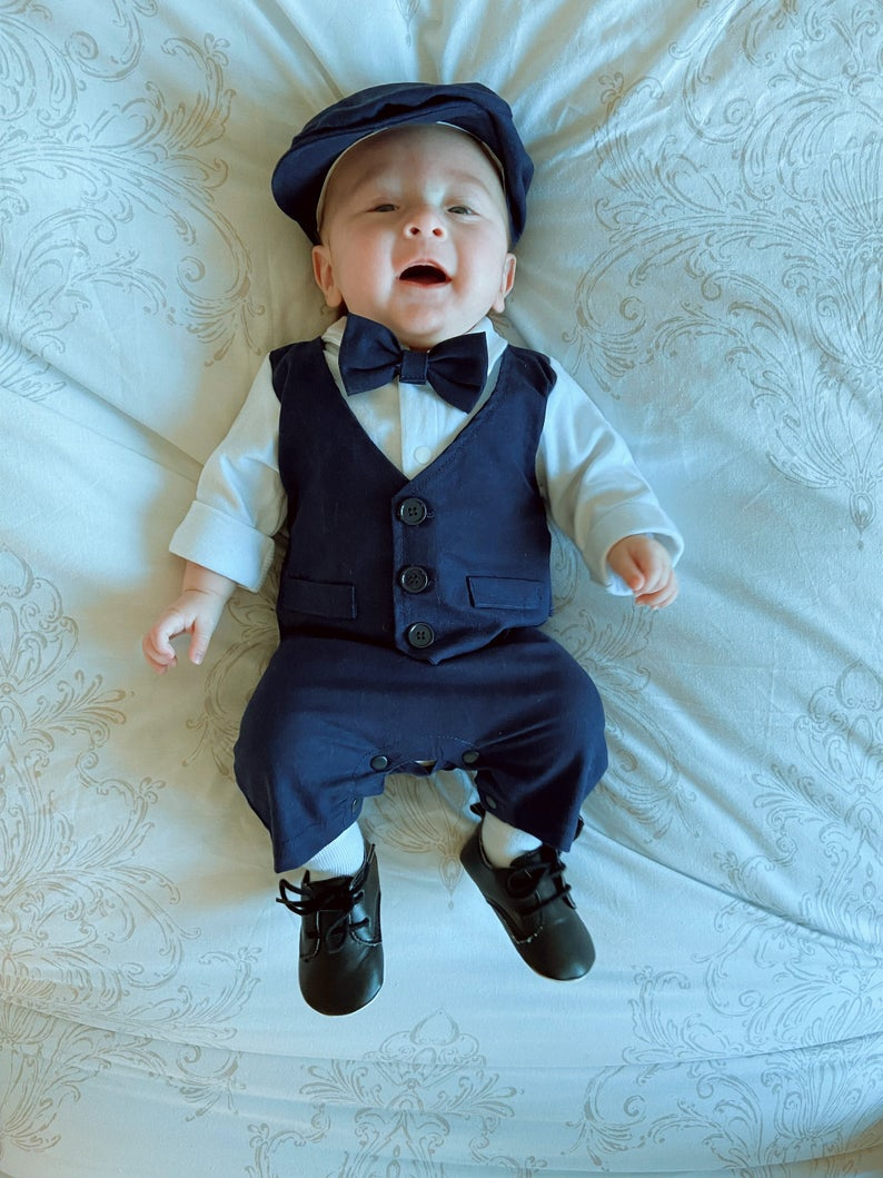 Dapper outfit set for baby boys