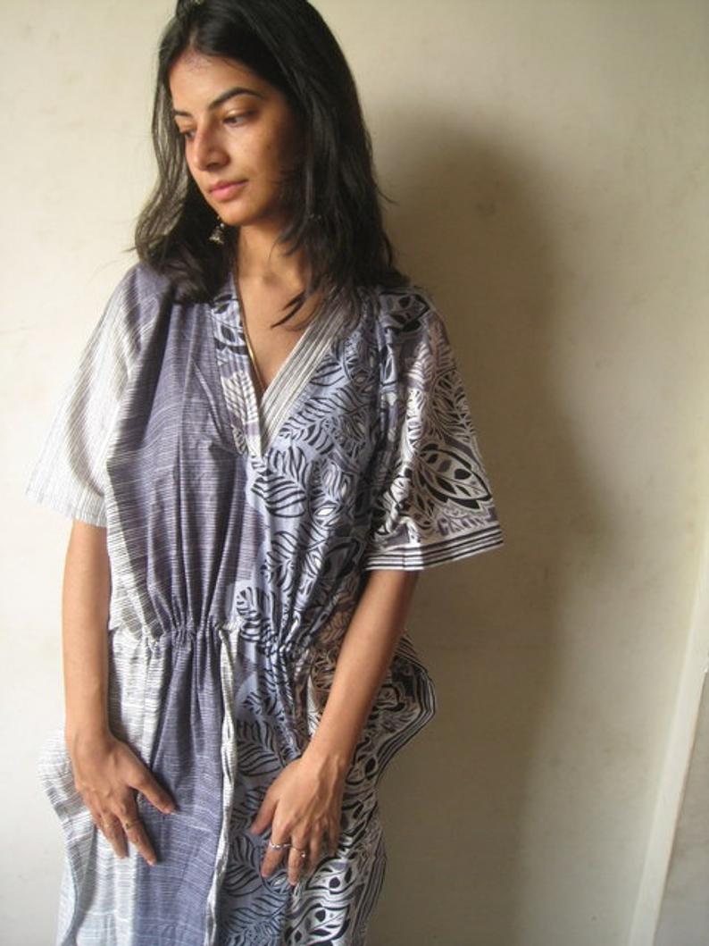 Long patterned house dress