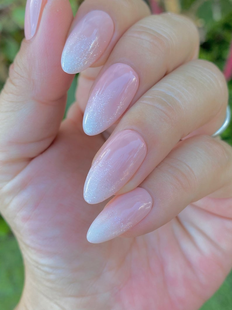 Simple almond nails