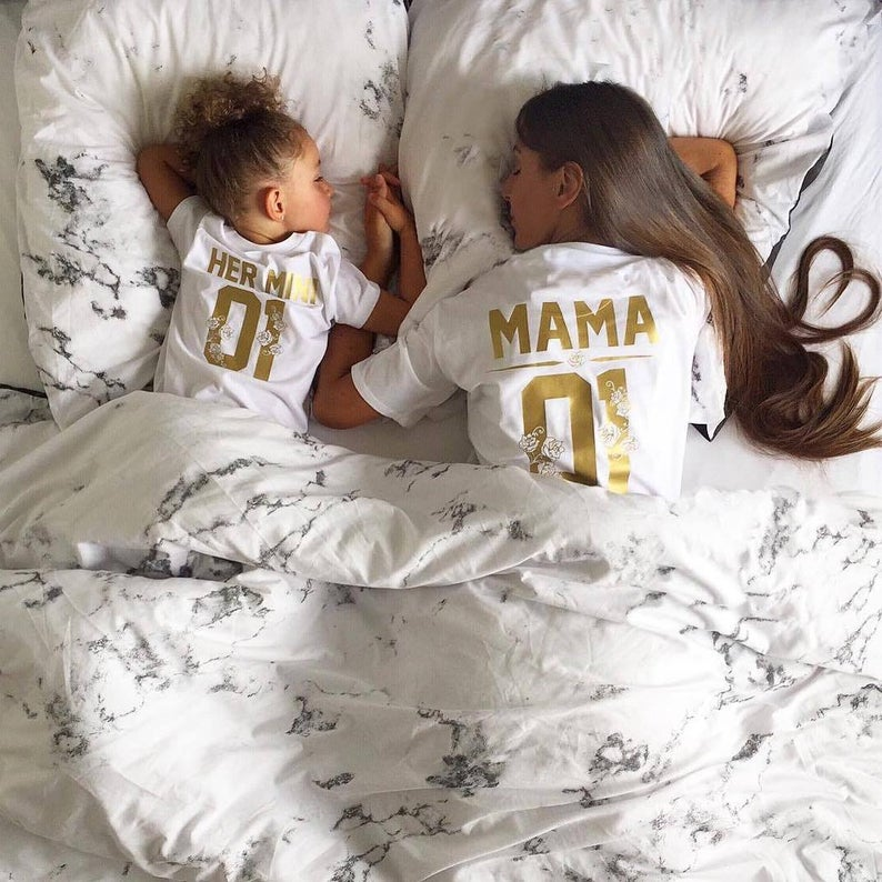 Basketball jersey number t-shirt mommy and me outfit