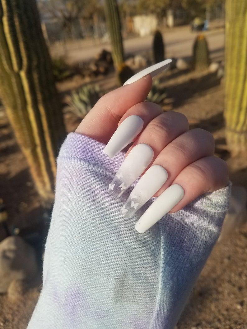 White design for coffin nails