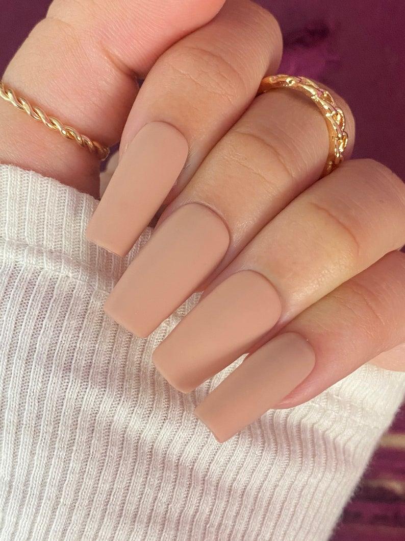 Matte nude nail designs