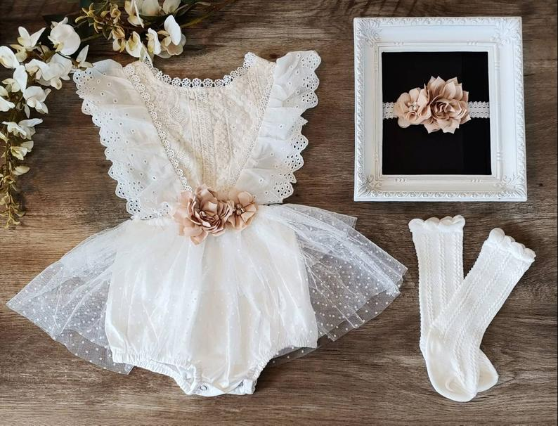 Baptismal dress for toddlers and newborns