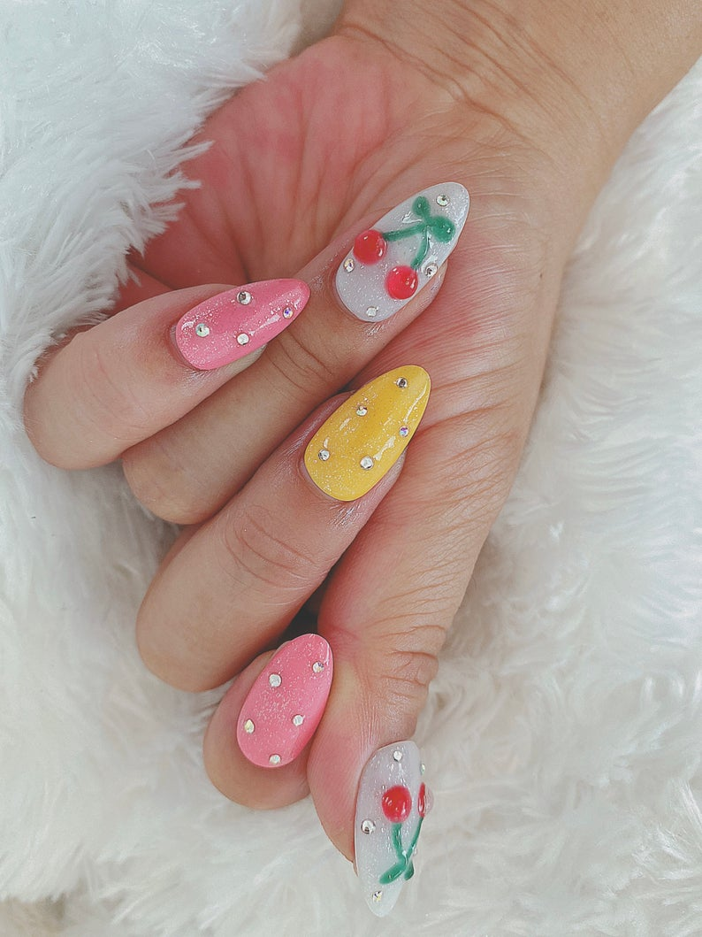 nails with cherry