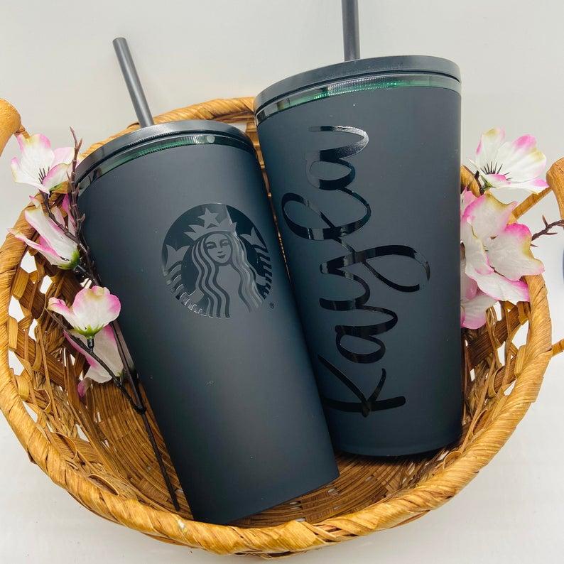 All matte personalizer Starbucks tumbler