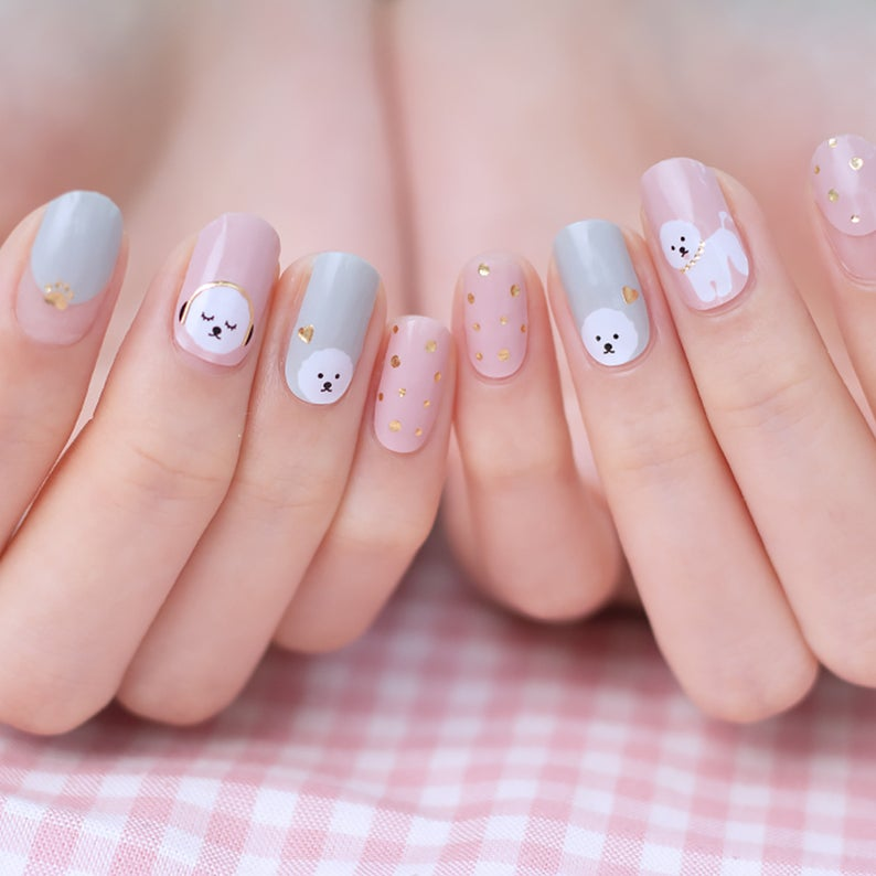 Cute nails featuring dogs