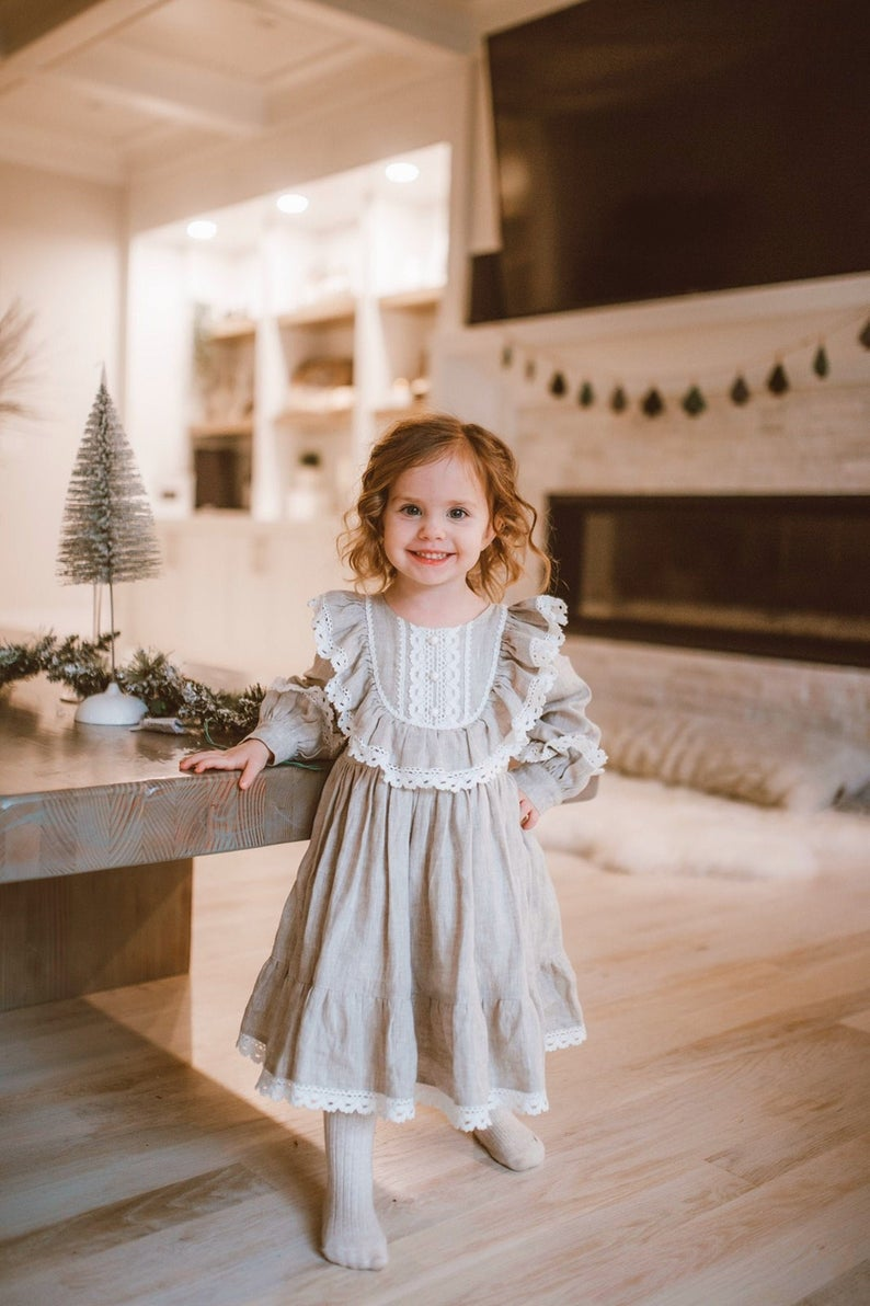 Vintage style dress for baby girls