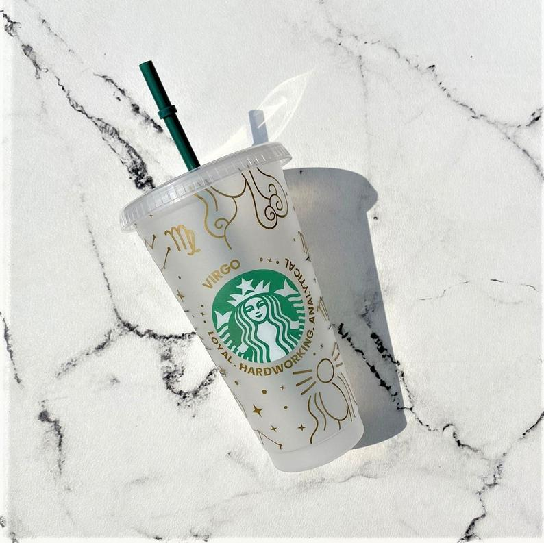 Astrology based personalized Starbucks tumbler