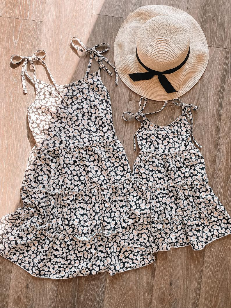 Daisies dress mommy and me outfit