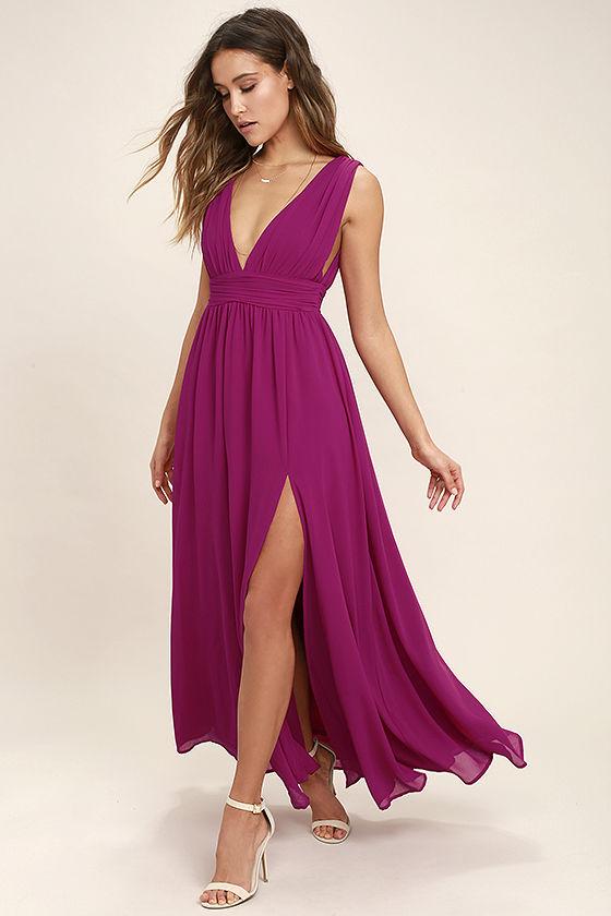 Magenta maxi dress for nursing