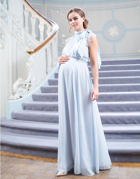 Light blue elegant nursing gown for wedding guests