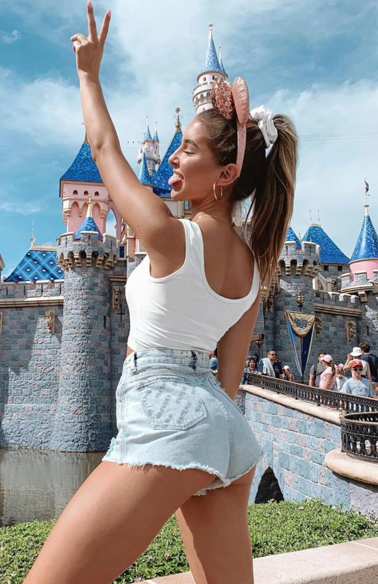 Casual denim shorts outfit