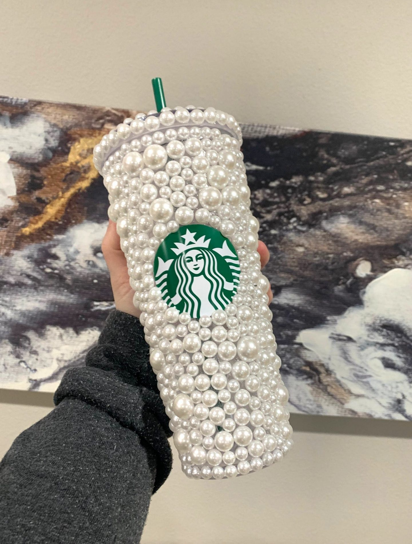 Pearl customized Starbucks cup