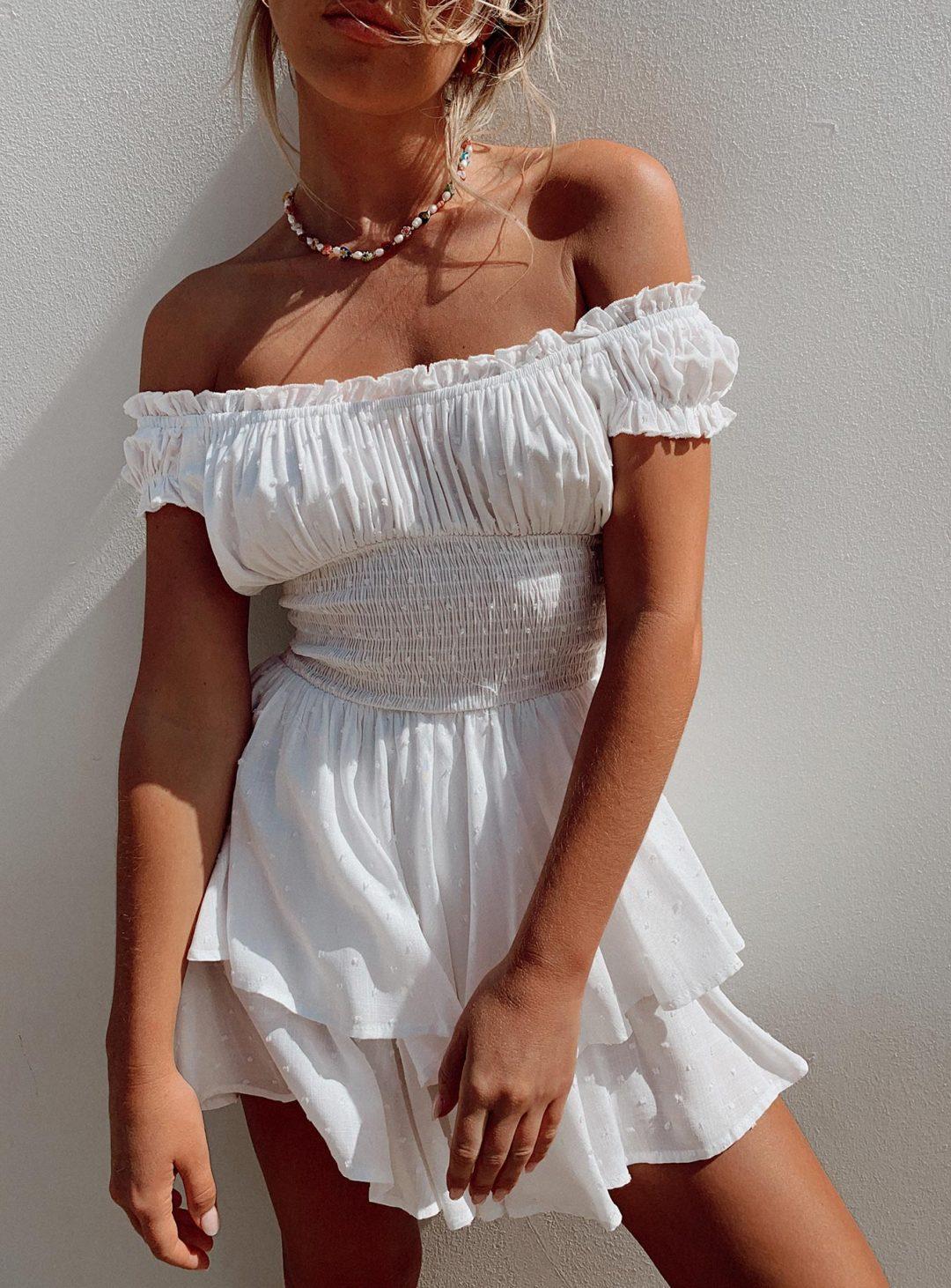 White romantic summer dress like Hello Molly