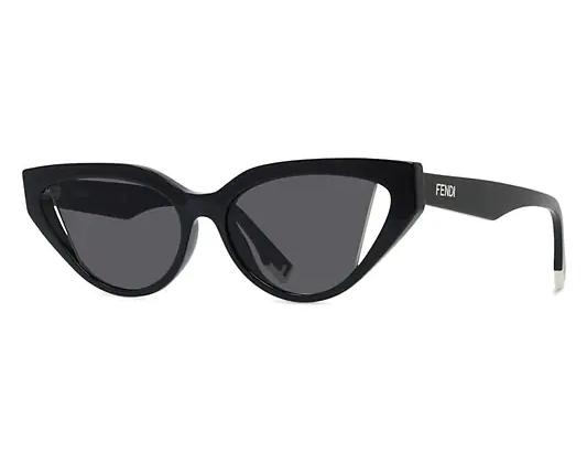 Fendi 52mm Cat Eye Sunglasses in black for small faces