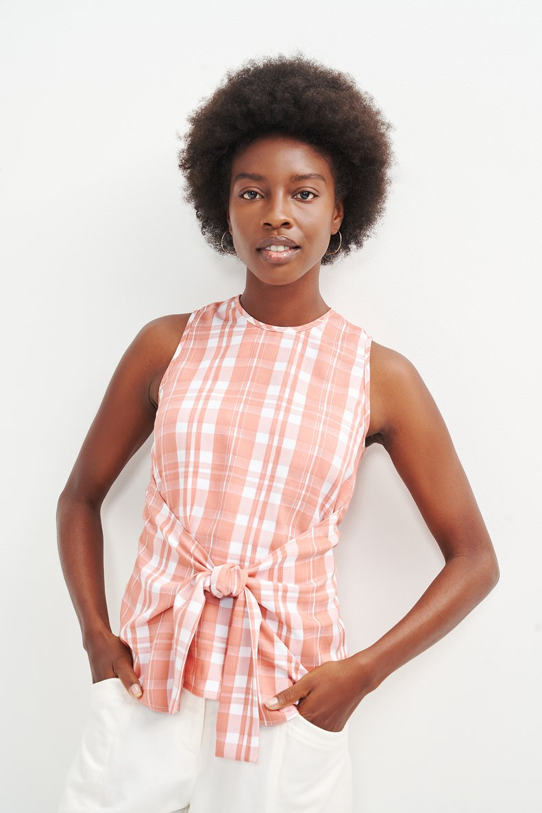 Checkered top from Amour Vert