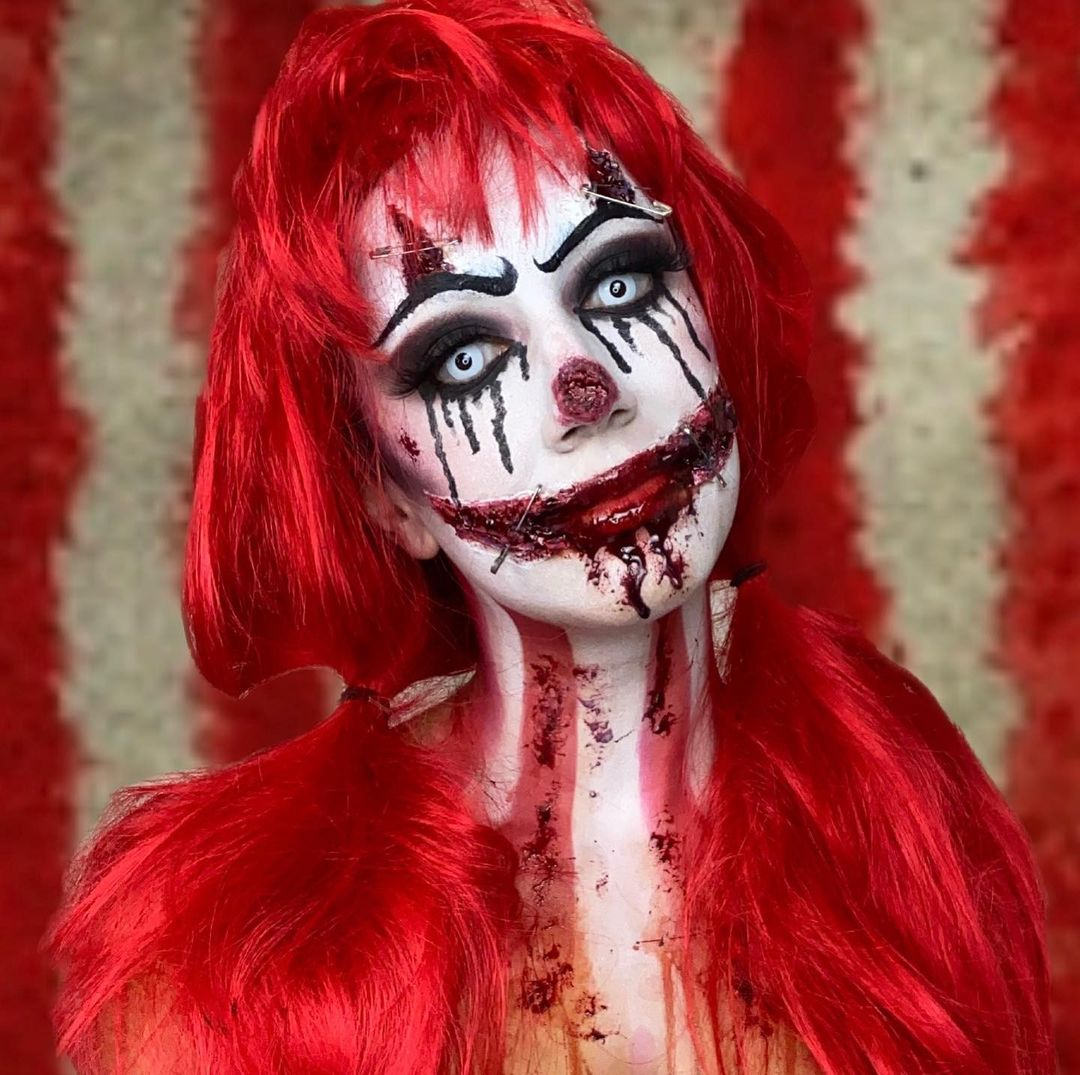 Gruesome Jester for Scary Halloween Costumes for Women
