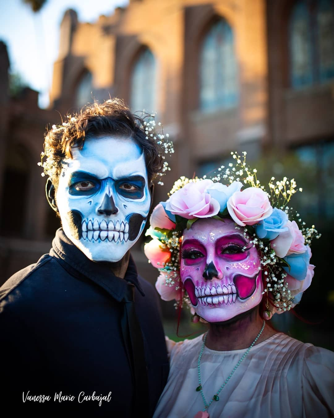 Couples sugar skull look for Day of The Dead Makeup Ideas