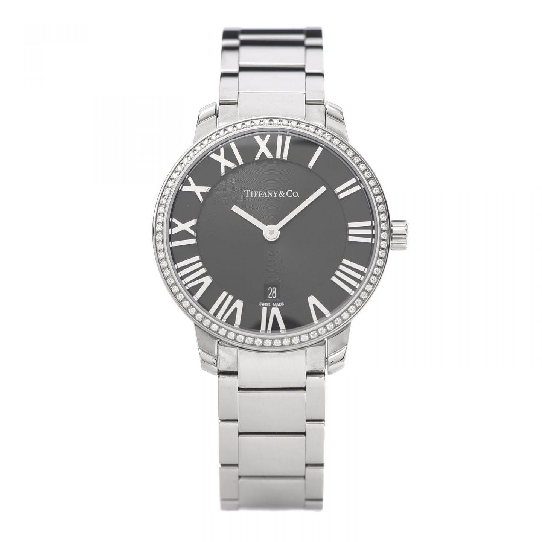 Tiffany Stainless Steel Diamond Quartz Watch