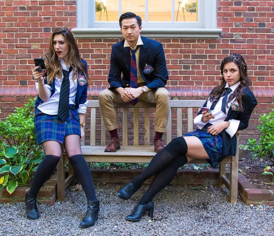 Gossip Girl for Best Trio Halloween Costumes