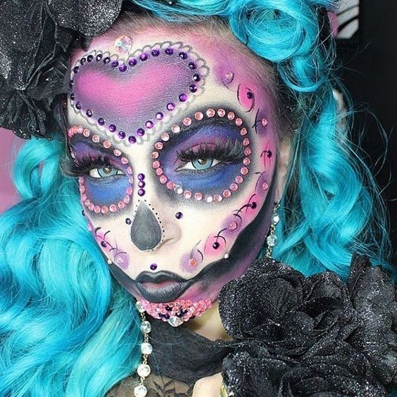 Grunge sugar skull for Day of The Dead Makeup Ideas