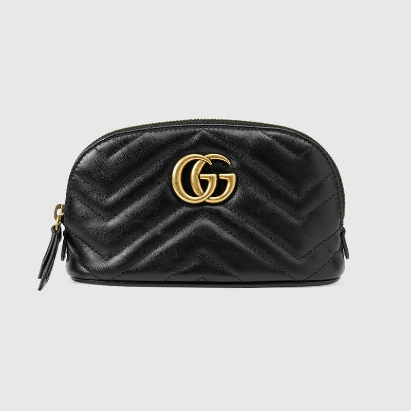 Gucci GG Marmont Cosmetic Case in black for best designer bags under $500