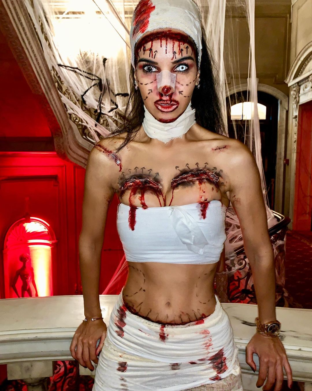 Plastic surgery gone wrong for Scary Halloween Costumes for Women