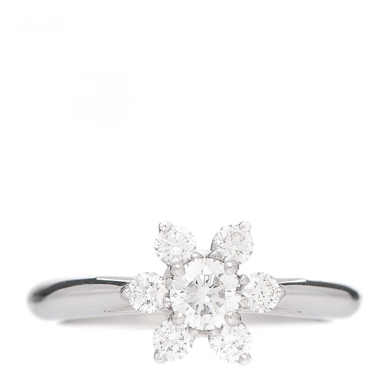 Tiffany Platinum Diamond Flower Ring for Cartier vs. Tiffany
